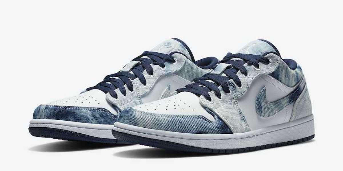 """Nike Brings Jordan 1 With Upcoming Air Jordan 1 Low """"Washed Denim"""" CZ8455-100"""